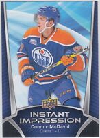 16/17 UD...CONNOR McDAVID...INSTANT IMPRESSION....CARD # II-1...OILERS