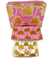 Lilly Pulitzer Trinket Tray Set Its Summer Somewhere Gift Box Metallic Palm Tree