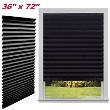 Paper Pleated Shade 36'' x 72'' Window Blind Sun UV Block Blackout Light Control