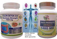 Detox Candida Cleanse- Anti Parasite Complex 1620mg Boost Intestinal Health kit