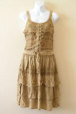 Gothic Renaissance Embroidered 2 pcs Top & Tier Skirt Dress Suit Set - XS & S