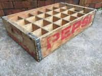 Vintage Wooden Soda Crate Pepsi Cola Wood Oskaloosa Iowa