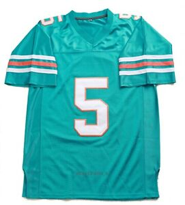 Ray Finkle #5 Ace Ventura Movie Men's Football Jersey Teal
