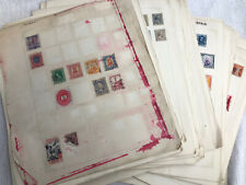 46 Looseleaf pages of stamps from 1850s to ealy 1940s