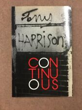 Continuous by Tony Harrison. 1983 p/back. Fast 1st Class Royal Mail Postage !
