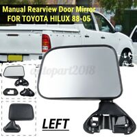 Left Side Door Manual Rearview Mirror Assembly For Toyota Hilux Pickup 1988-2005