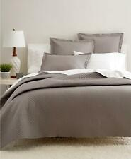 Charter Club Damask Diamond Quilted 2 Piece Full / Queen Coverlet Set Stone $170