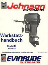 Werkstatthandbuch auf CD Johnson EVINRUDE 40 - 55 PS 2 Zylinder Mitte der 90 er