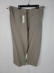 EILEEN FISHER NWT Gray Cross Dye Linen Oversized Wise Leg Pants Medium