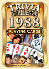 Flickback 1988 Trivia Playing Cards: 30th Birthday or 30th Anniversary Gift