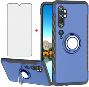 Phone Case for Xiaomi Note 10 mi10 with Tempered Glass Screen Protector Cover an