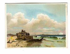 Victorian Trade Card UNION PACIFIC TEA CO Coffee shipwreck