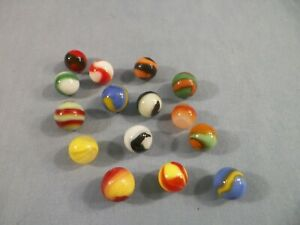 Lot of 15 Vintage Akro Agate Company Corkscrew Marbles Lot#1