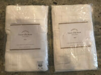 Pottery Barn Set of 2 Linen Silk Euro Shams Ivory NEW