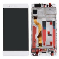 P1 DISPLAY LCD +TOUCH SCREEN +CORNICE per HUAWEI P9 BIANCO FRAME COVER EVA-L09