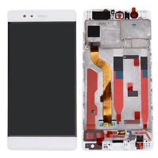 GLS: DISPLAY LCD +TOUCH SCREEN +CORNICE per HUAWEI P9 BIANCO FRAME COVER EVA-L09