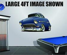 DB 1955 Chevy Belair Wall Graphic Decal Vinyl Sticker Peel Stick Cartoon Car 2ft
