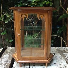 Small Vintage Teak Wood Cabinet Craft Handmade Carved Thai Cupboard Furniture #5