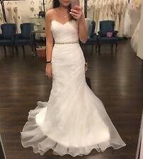 Coan Couture Organza Ivory Sweetheart Wedding Dress Size 6 NEW