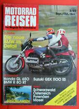 Motorrad Reisen , 3/83 , BMW K 100 , Suzuki GSX 1100 ES , BMW R 80 RT
