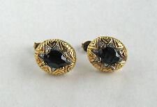 3 Carat Midnight Blue Sapphire Earrings in Fine Vermeil Setting