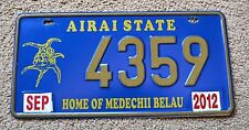 "PALAU "" AIRAI STATE - HOME OF MEDECHII BELAU "" Island Graphic License Plate"