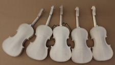 5pcs 4/4 unfinished violin flame maple back Russian spruce top Hand made parts