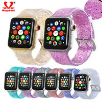 Glitter Silicone Watch Bracelet Wrist Strap Band For Apple Watch 38/40mm 42/44mm
