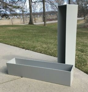 """**PLANTER DESIGNS 'TOPSIDERS' ARCHITECTURAL PLANTER BOXES 30"""" x 6"""" GREY USA MADE"""