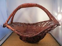 Vintage Japanese Woven Ikebana Flower Arranging Basket Japan