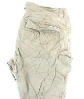 MISS ME Women's Khaki CP1241 100% Cotton Straight Leg Cargo Denim Jeans 30 x 31