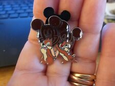 Chip & Dale with Food Mickey Ice Cream Bar Disney Cast Lanyard Pin #37456