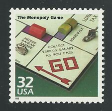 First 1st Monopoly Board Game Introduced 1933 With Iron Token Piece Stamp 3185o