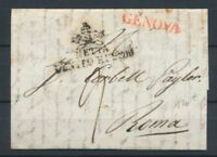 Lettre Purifiée GENOVA Rouge + Tampon noir NETTA DENTRO E FUORI… Signé X2783