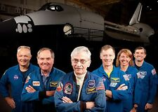 First & Last Space Shuttle Crews PHOTO Columbia Atlantis Missions Astronauts