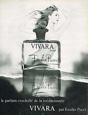 PUBLICITE ADVERTISING 045  1969  EMILIO PUCCI  parfum femme VIVARA