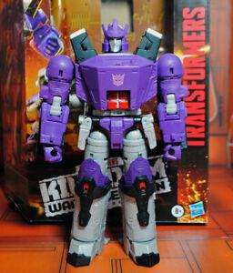 Custom modded GALVATRON Kingdom Transformers fixed shoulders no battle damage!