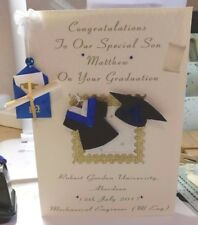 Personalised  Aberdeen Graduation Card & Real Scroll GIFT BOXED - Cream