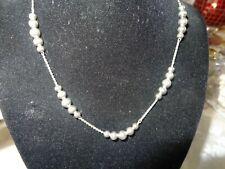 Vintage Monet Silver.Tone Necklace