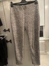 ZARA Leopard Dalmation Print Trousers Jeggings Ankle Grazer L