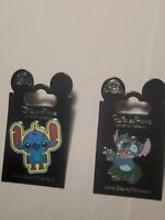 Disney Parks 2 Pin Lot Robot Stitch  +  Hula Stitch NEW