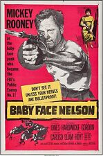 BABY FACE NELSON ORIG. U.S. 1-SHEET MOVIE POSTER, MICKEY ROONEY, DON SIEGEL