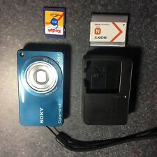 Sony Cyber-shot DSC-W350 14.1MP Digital Camera Blue Tested & Working