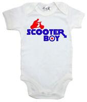 "Dirty Fingers ""Scooter Boy"" Baby Boy Bodysuit Babygrow Vest Mod Vespa Lambretta"