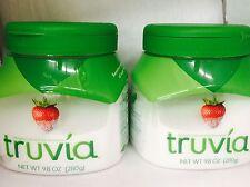 2 Jar Truvia 9.8oz 280g calorie free sweetner STEVIA coffee tea sugar substitute