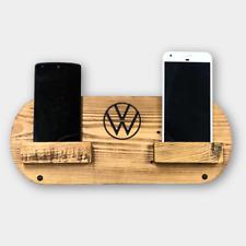 VW Volkswagen Camper Van T25 T4 T5 T6 LT Crafter Dual Phone Holder Dock Rustic