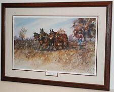 """Stalk Cutting"" Art Print by Lafayette Ragsdale in 35""x25"" Frame (MS148)"