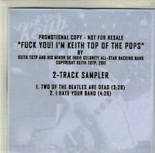 (CI535) Keith Totp, 2 track sampler - 2011 DJ CD