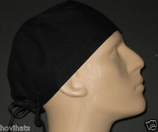 BLACK SCRUB HAT WITH SWEAT BAND ADDED / FREE CUSTOM SIZING!