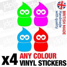 4x pequeñas zingy Fed energía anuncio Vinilo coche Stickers-Cualquier Color-Jdm Euro